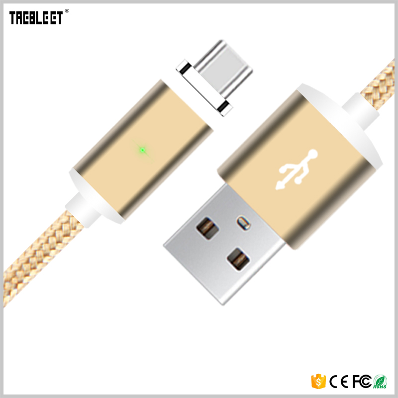 Cell Phone Cable Magnetic USB Charger 1M USB Charging Data LED Metal Micro USB Function Cables Magnetic Phone Charger