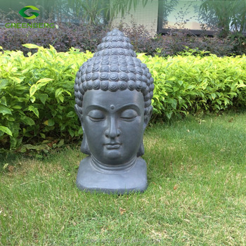 Resin Buddha Head Statue Garden Ornaments View Larger Image