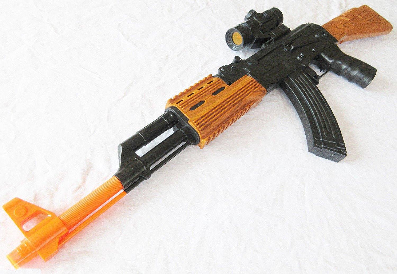 Toy Guns Electronic Army Force AK-47 Toy Rifle w Combat Sound FX Play Set