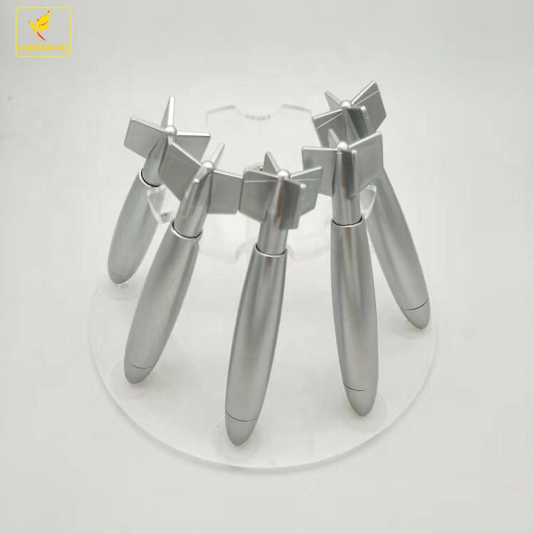 LQPT- PP203 novelty plastic silver rocket missile shaped ball <strong>pen</strong> with logo customizing for advertising and promotion stock <strong>pens</strong>