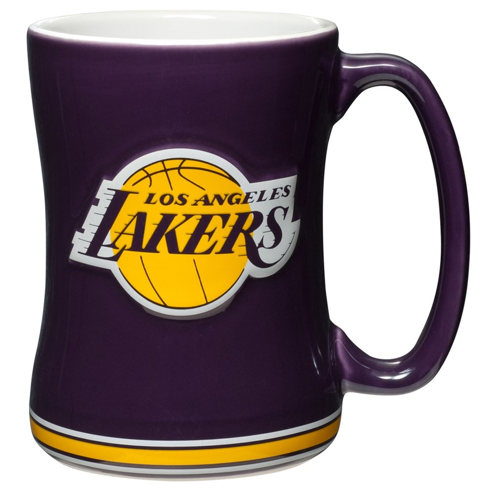 Get Quotations · Los Angeles Lakers Coffee Mug - 14oz Sculpted Relief ce1923969