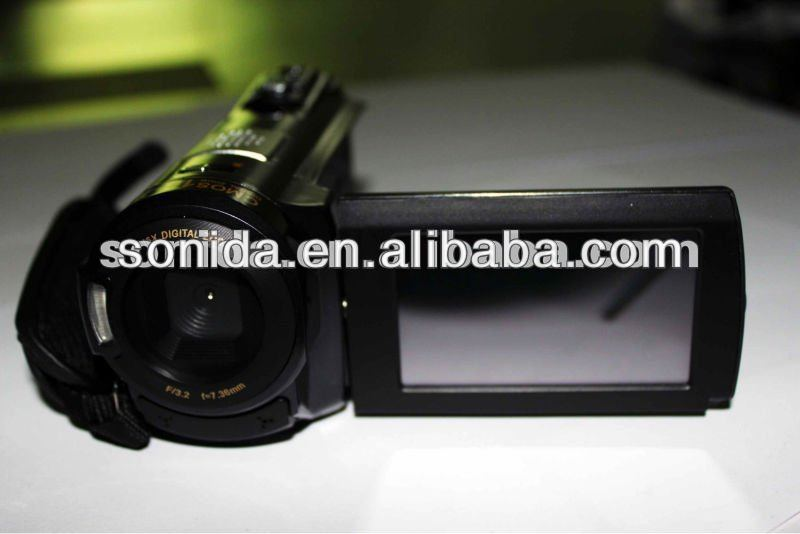 new design 3.0 TFT LCD with touch screen camcorder CMOS sensor compact camcorder/camera (HDV-502PT)