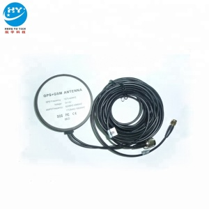 Hot Sell GPS+GSM FM Round Screw Type Combo Antenna 5m TNC Male SMA Male Connector Sticky Installation