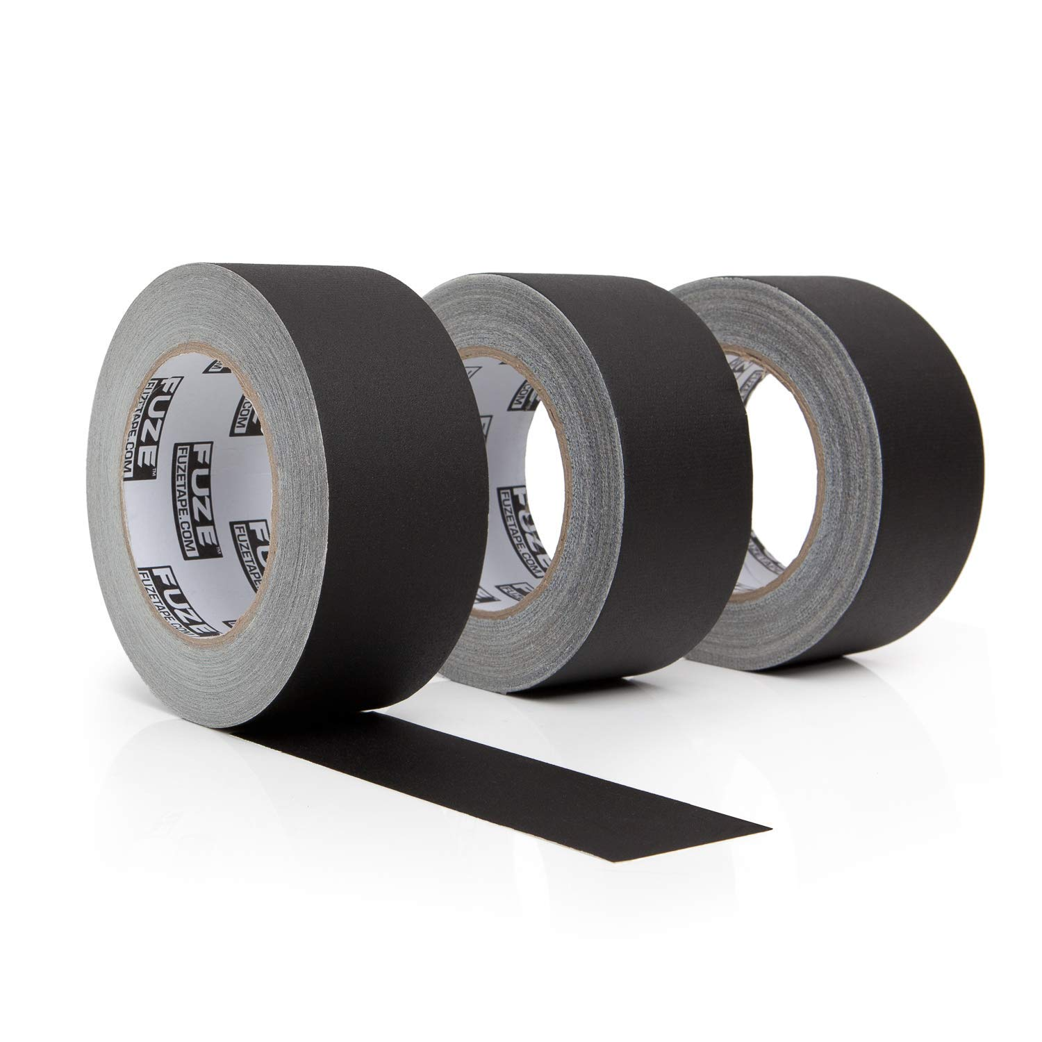 New: Black Gaffers Tape - 3 Pack, 30 Yards & 2 inch Wide- 3 roll Bulk Set Refills case. Multi-Pack Waterproof Gaffer Matte Cloth Fabric for pro Photography, Filming Backdrop, Production Equipment