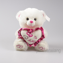 the new style lovely white plush teddy bear toys stuffed animal gifts wholesale