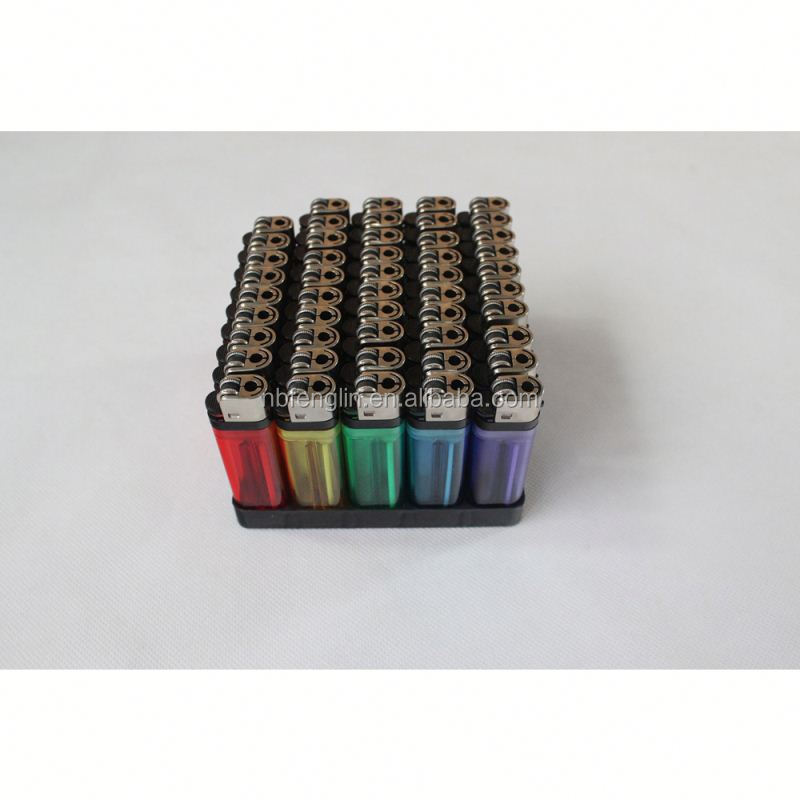 China factory cheap price FL-601 transparent color plastic disposable flint king lighter