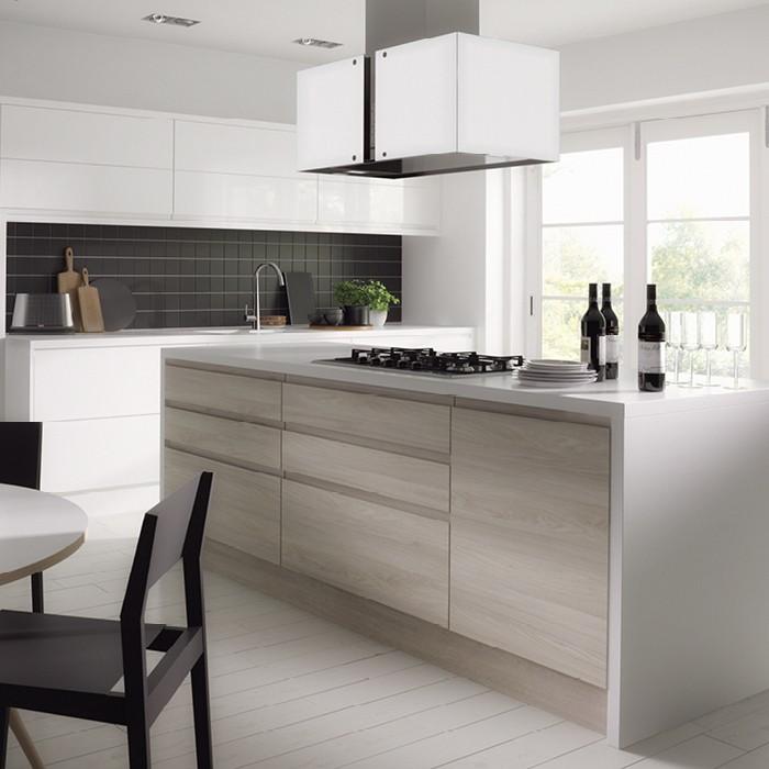 White Kitchen Cabinets Quality: White Wood Grain Laminate Kitchen Cabinets