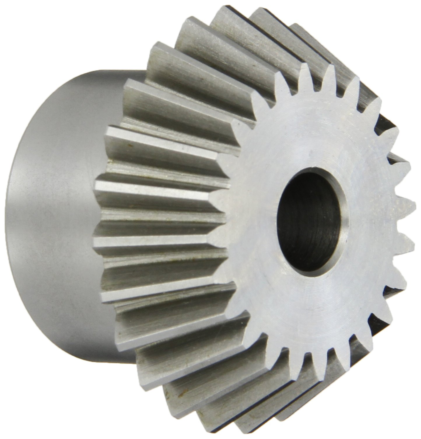 "Boston Gear PA4212Y-P Bevel Pinion Gear, 2:1 Ratio, 0.500"" Bore, 12 Pitch, 24 Teeth, 20 Degree Pressure Angle, Straight Bevel, Steel"