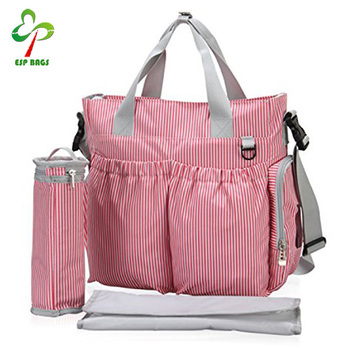 Fashionable Designer Baby Diaper Bag Stripe With Insulated Bottle Holder Ious Bags Mummy