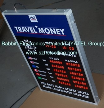 1inch Red Led Currency Exchange Rate Display Board Indoor World