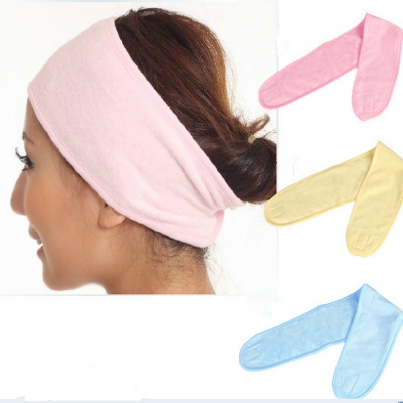 High Quality Terry Cloth Towel Hair Headband Bath Head