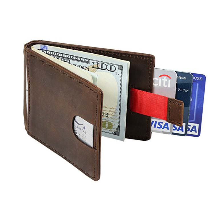 Men Wallet Front Pocket RFID Blocking Leather Slim Wallets