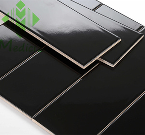 4x12 black glossy flat living rooms interior wall tile design plastic wall tile subway tile glossy kitchen backsplash