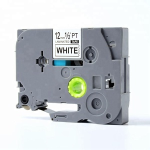 12mm black on white label tape TZE -231 Compatible P Touch cassette tape