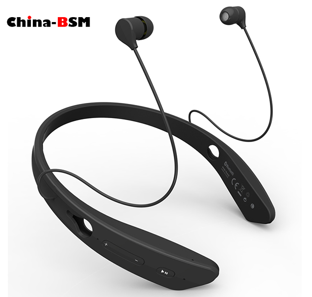 2016 New private mould mini acoustic bluetooth headset Stereo movement type hanging ears