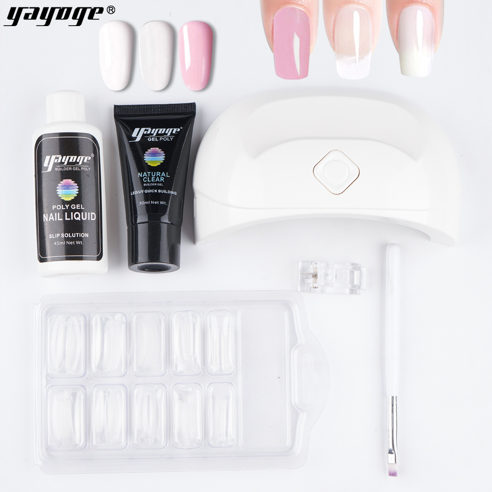 Clip di estensione Del Pennello Nail Polish Kit di Gel Con Luce Uv