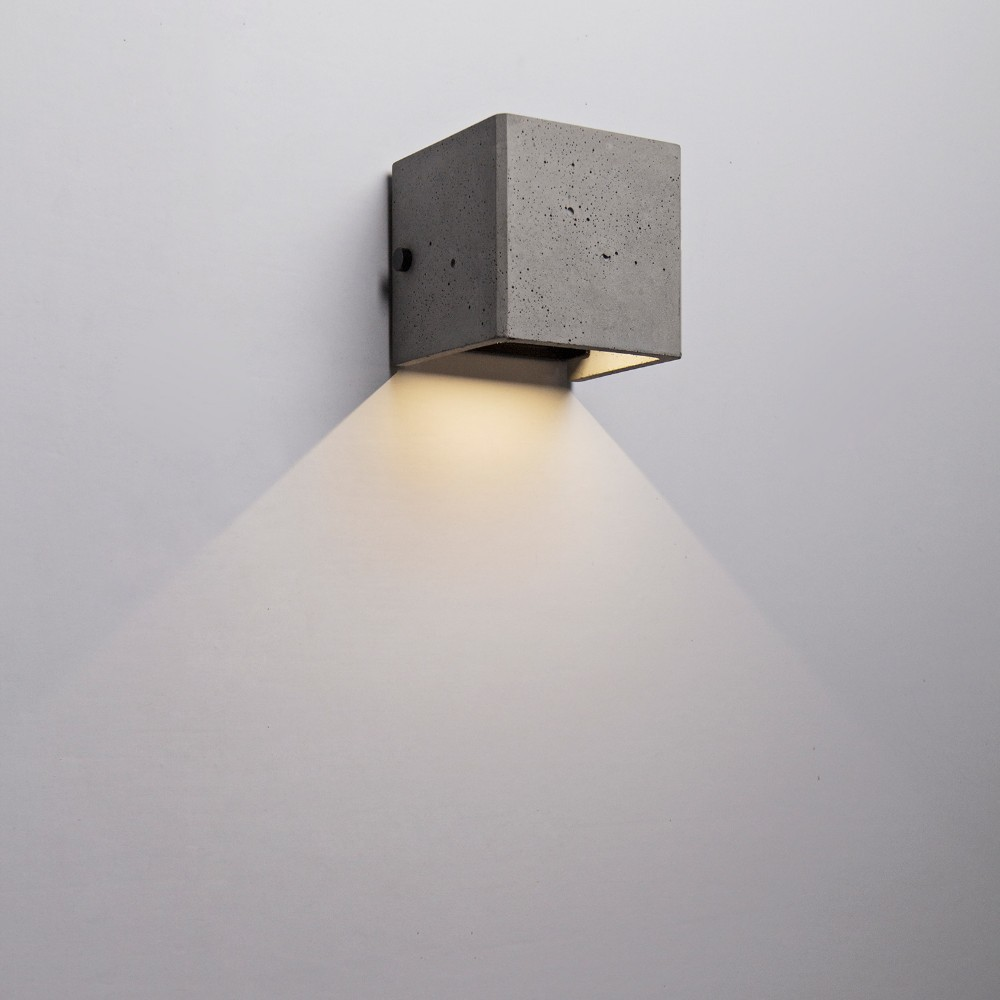 Concrete Cube Antique Led Wall Lights 6w,Adjustable Used For ...