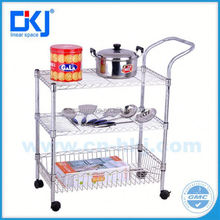 Garage Moving Chrome Wire Shelving Rack System