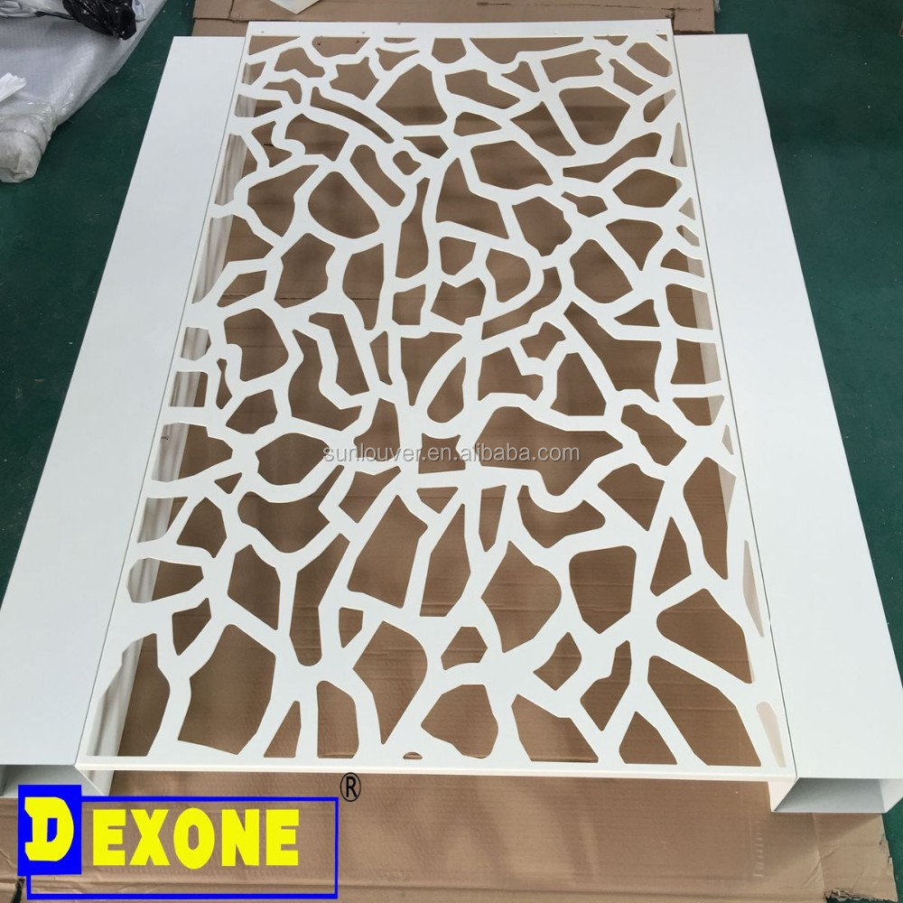 Architectural exterior decorative perforated panel for room divider