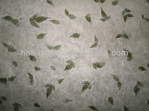 handmade paper with flower petals and leaves HPP010