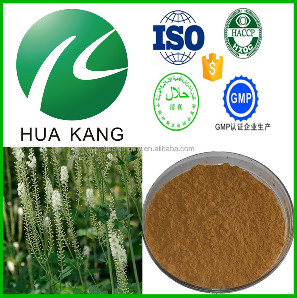 Herb medicine sports ingredient Black Cohosh Extract,Anti-depression and antibacterial Polyphenol 4% Chicoric Acid 2%