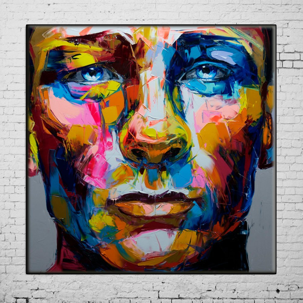 Osm Art Hand Painted Oil Painting No Framed Nielly Francoise Work Hand-Painted Oil Wall Moonlight Face Home Decoration Modern Abstract Portraits Oil Painting on Canvas