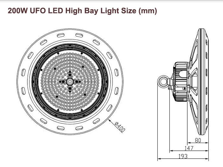 200W UFO size