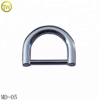 Topwin Silver D Shape Metal Bag Buckle For Handbags Accessories