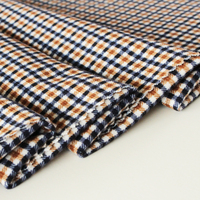 100% Polyester Check Printed Bonding Material Plaid Super Soft Fabric For Car Seat Cover/Pillow Cover/Bag