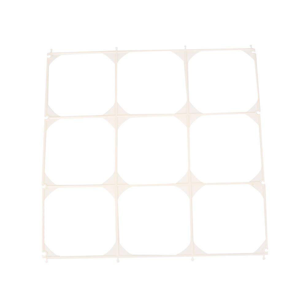 KICODE 9 Grids 10 Pcs Plastic White Balloon Modeling Grid Accessories Balloon Mesh Home Party Gadget