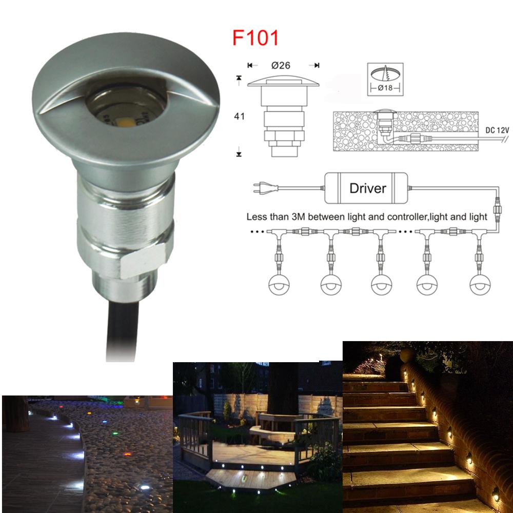 buy 0 6w dc12v led step light outdoor led deck light recessed led spot light. Black Bedroom Furniture Sets. Home Design Ideas