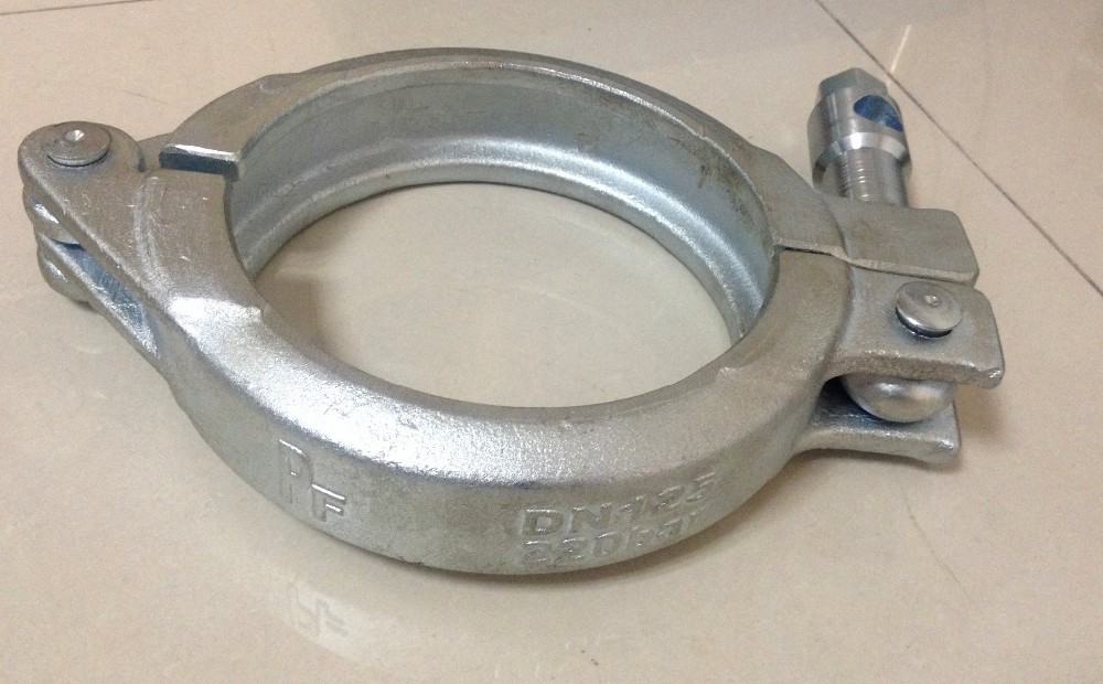 DN 150 Schwing concrete pump Wedge Clamp MF flange size 166mm