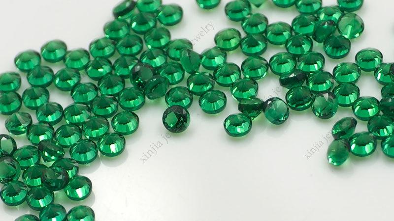 Wholesale Lab Created China Wuzhou Gemstones 2mm Round Green Nano ...