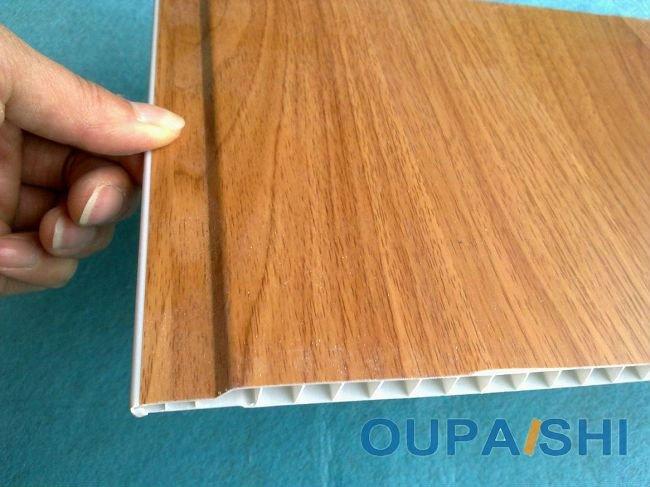 Interior Wood Grain Laminate Wall Pvc Panels