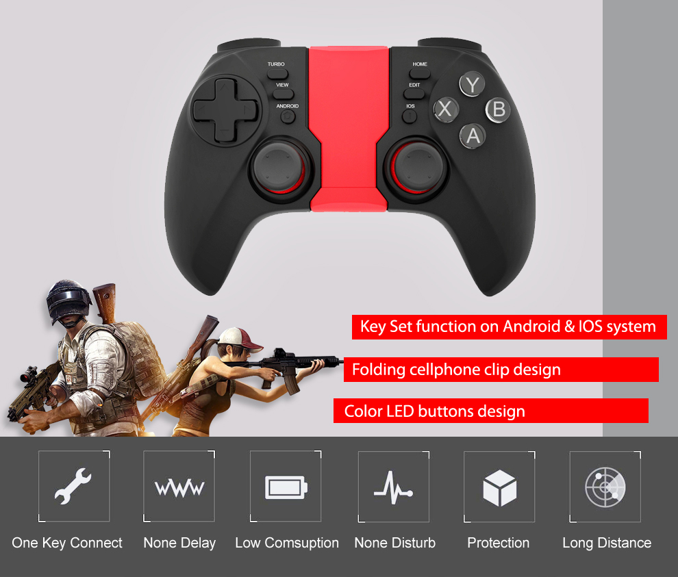 For PUBG wireless gamepad joystick & game controller android