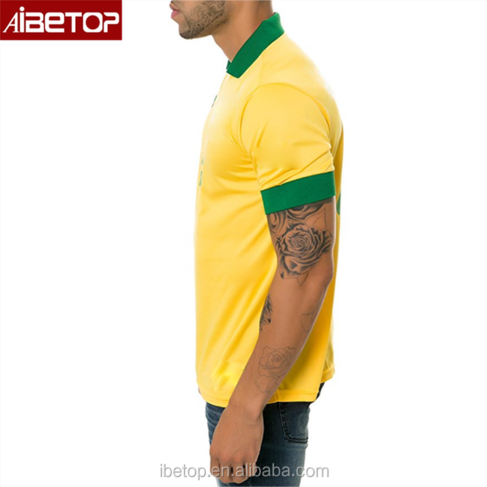 2018 Brazil football jersey big and tall wholesale thailand authentic  soccer jerseys 2017 ea6d21bfe