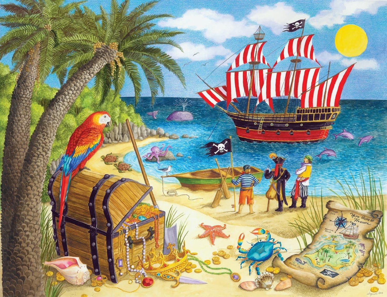 Картинка пираты на острове