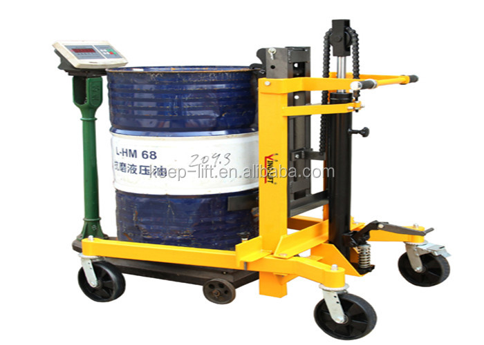 U-Shaped Base Mobile Pedal Portable Hydraulic Drum Handling Equipment with Adjustable Legs DT400C