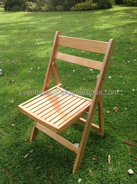 China wholesale outdoor garden chairs wood slat folding chairs for relaxation