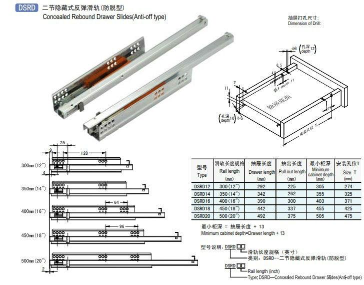 Metal Drawer Sides Track Dsrd - Buy Drawer Slide Track ...