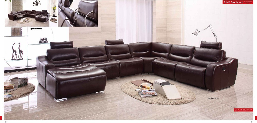 genuine leather sofa modern home furniture sectional