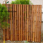Carbonized bamboo fence