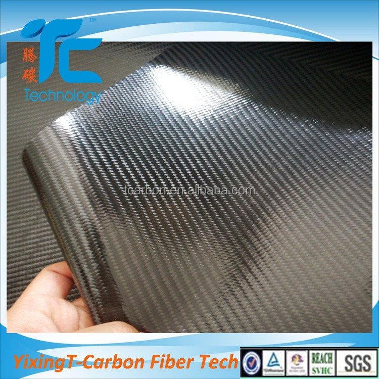 TPU coated carbon fiber leather fabric for clothing