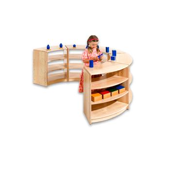 Pre Guardería Escuela Biblioteca Muebles De Madera Juegos Montessori ...