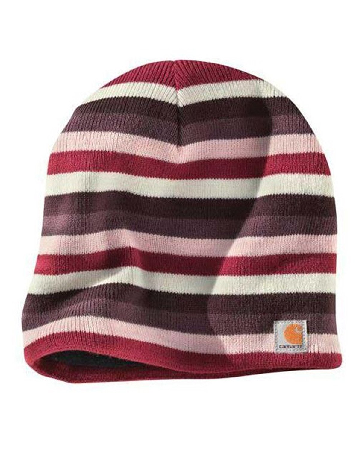 Get Quotations · Carhartt Striped Knit Beanie - Light Orchid Womens Warm  Winter Ski Hat a7e0adc6c339