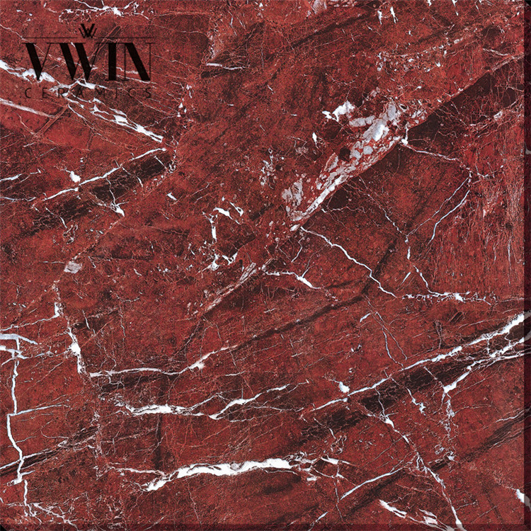Bright Color Red Marble Jade Floor