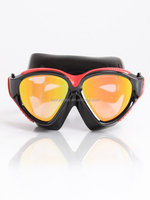 Professional Mirror coating cool art swimming goggles,wide vision swim mask
