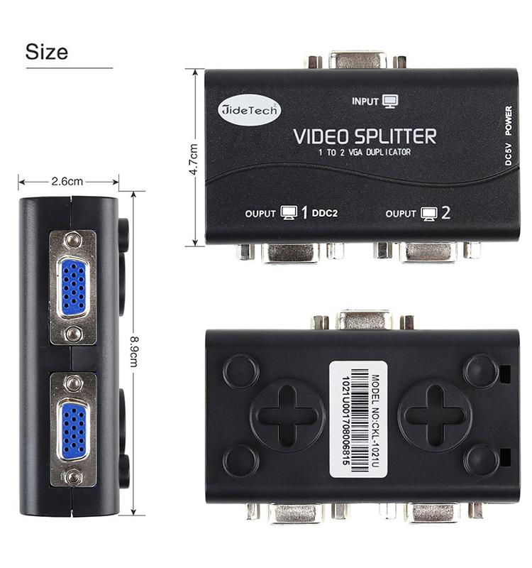 250HMZ VGA Splitter 1 entrada 4 salida Video Splitter con alta calidad