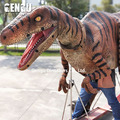 Outdoor amusement park walking with dinosaur costume