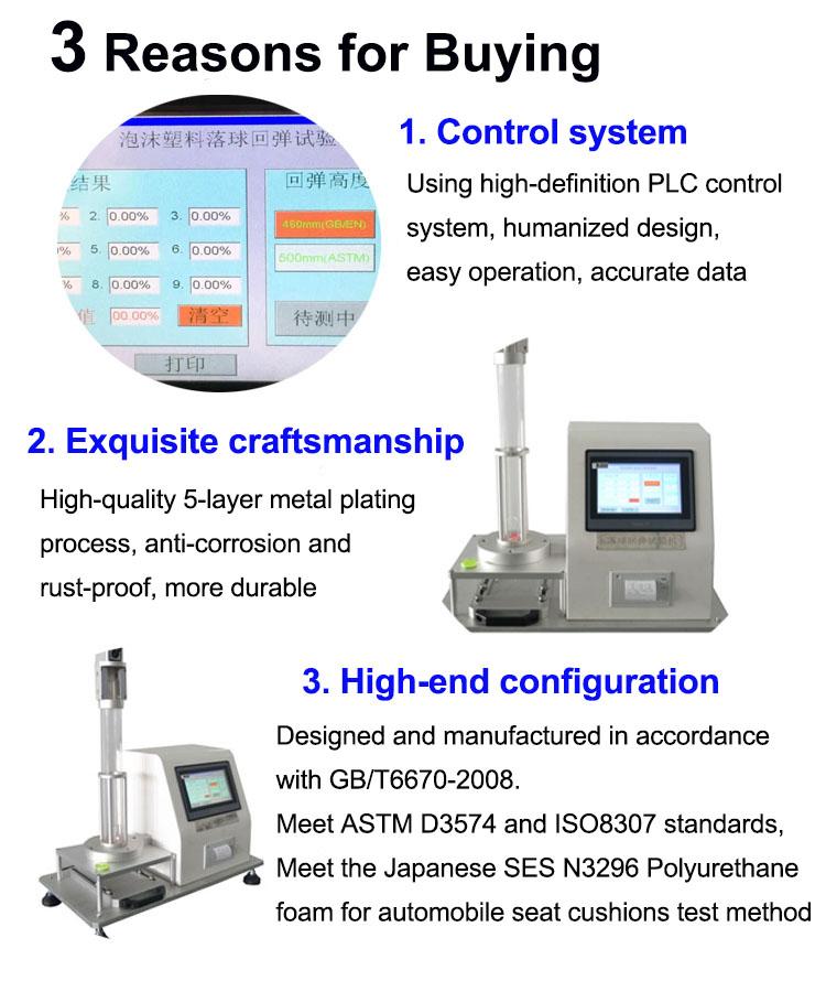Elastizitätsprüfgerät für vertikale Rückprallfestigkeit nach ASTM D2632